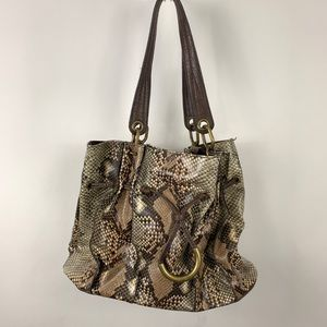 Jessica Simpson Snake Skin Shoulder Bag